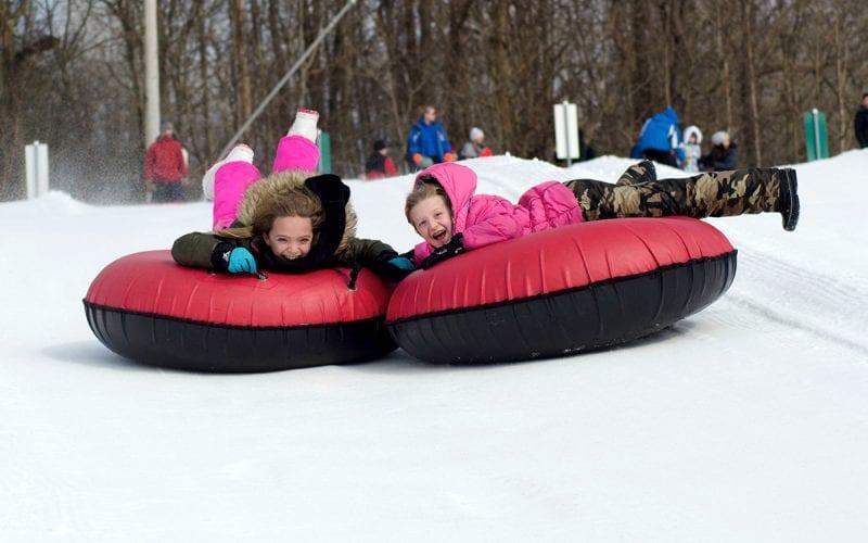 Children Snow Tubing