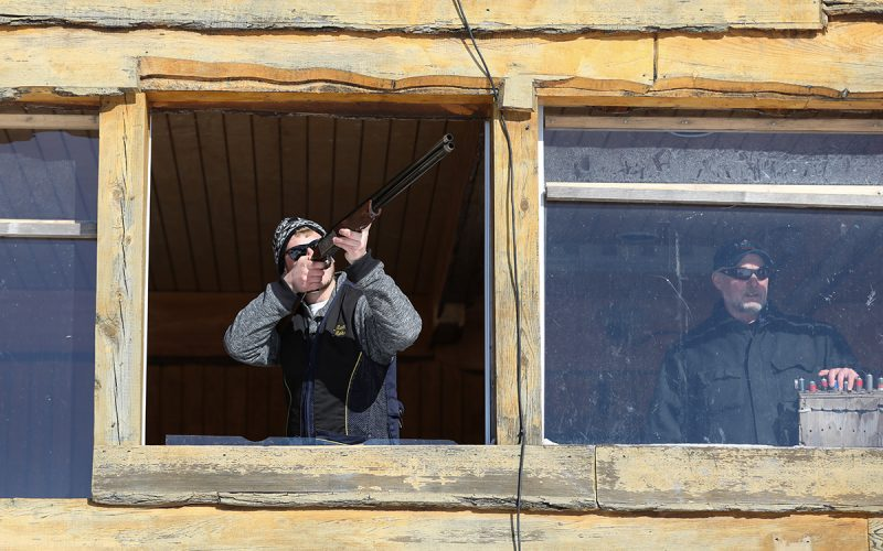 Sporting Clays at Seven Springs in the winter