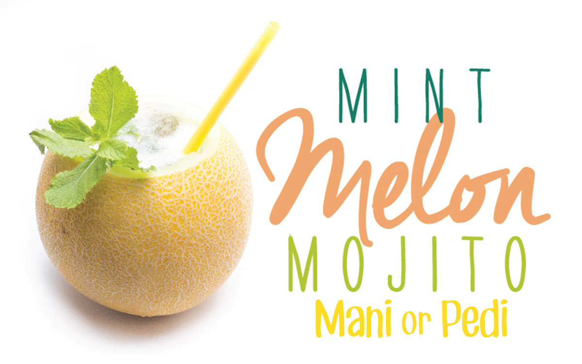 Mint Melon Mojity Mani or Pedi
