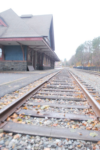 The train tracks are seen at the Union Depot in Saranac Lake.  (Enterprise file photo — Chris Knight)