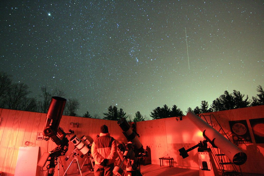 The night's sky is seen above the Adirondack Public Observatory in Tupper Lake. (Photo provided —Marc Staves)