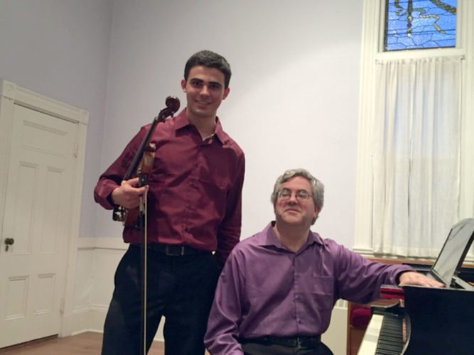 Timothy Bilodeau (standing) and Miles Goldberg (Photo provided)