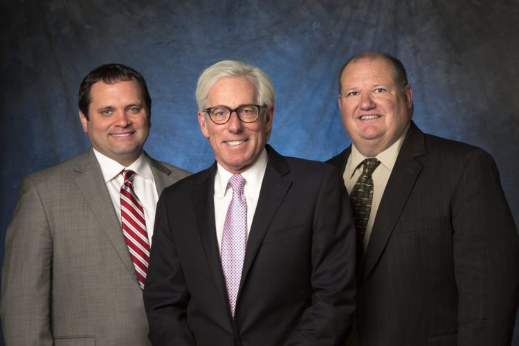"""As the Hurwitz & Fine firm turned 40, it also celebrated the expansion of the firm with a new Lake Placid office and greater coverage in the Albany area with the addition of three new attorneys who are well established in the region. For the first time in the firm's history, the firm now has 40 attorneys statewide. It welcomed Edward Flink as a member and James """"Jamey"""" Maswick as an associate, both of whom were formerly affiliated with Flink Smith LLC, and both of whom will be serving the Albany/Capital District/North Country area where they are well established, well known and well respected. Tom Sica joins the firm as special counsel to support our clients in the Albany area and, like other attorneys across the firm, stands ready to serve wherever needed in New York state. The firm has grown steadily since its beginnings in Buffalo in 1977 to a statewide firm with a national reputation for excellence. Pictured are James Maswick, Edward Flink and Tom Sica. (Photo provided)"""