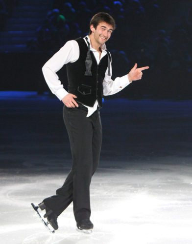 Ryan Bradley, shown during a performance, will headline tonight's Saturday Night Ice Show at the Olympic Center in Lake Placid. (Photo courtesy of Ryan Bradley)