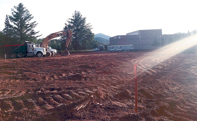 Site preparation begins at Adirondack Health's future Health and Medical Fitness Center on its Uihlein property on Old Military Road, Lake Placid. (Photo provided by Adirondack Health)