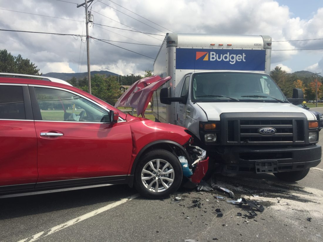 One Injured In Two Car Collision In Front Of State Police Barracks