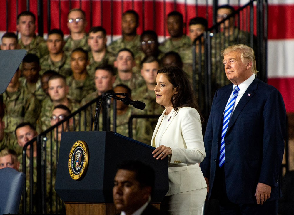 President, at Fort Drum, signs $700B spending bill with jets