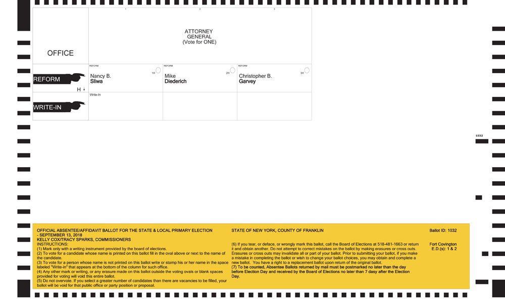 Franklin county primary sample ballot (all parties.