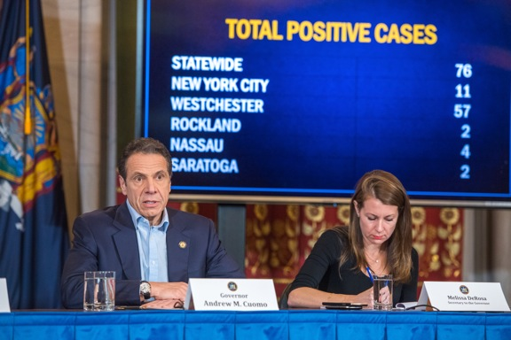 NY coronavirus case jump to 76, state of emergency declared