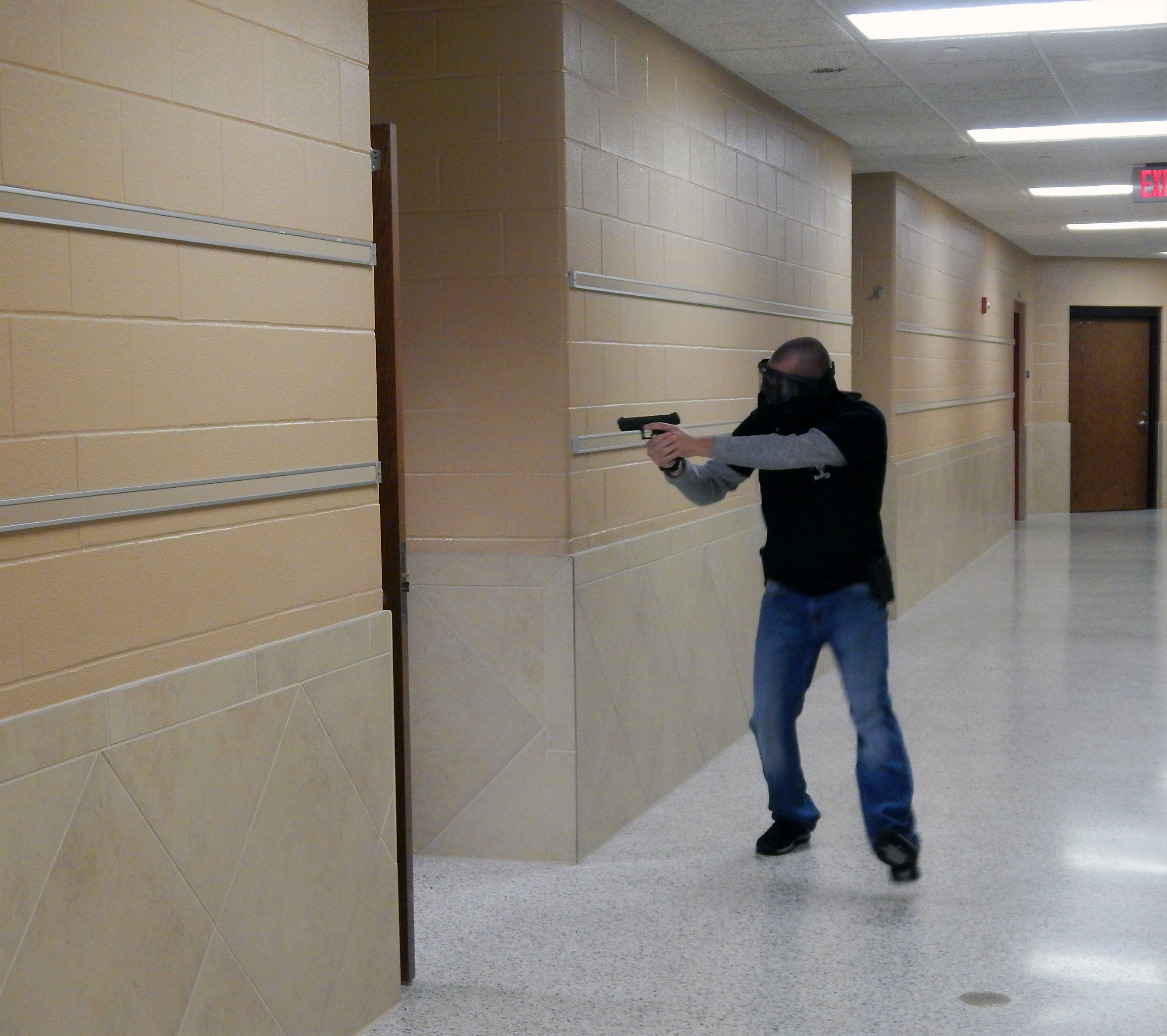 Law Enforcement Train For Active Shooter Situation