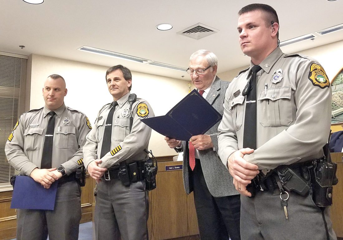 Officers recognized | News, Sports, Jobs - Altoona Mirror