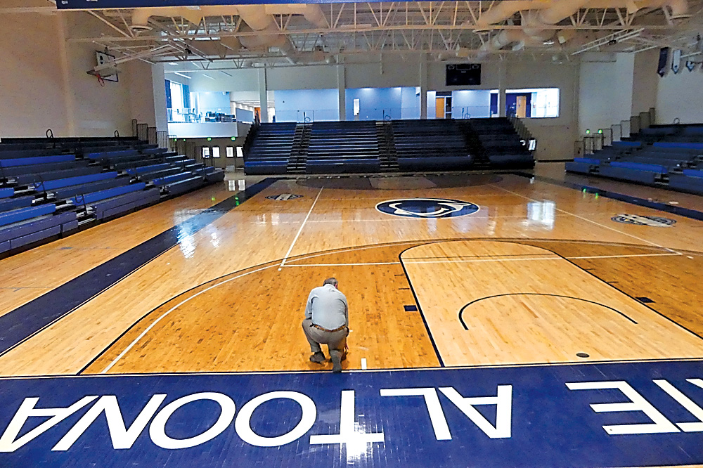 Runoff Damages Gym Floor At Campus News Sports Jobs Altoona