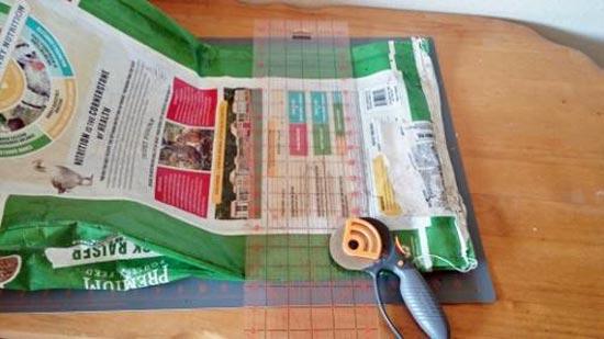 cutting feed bag