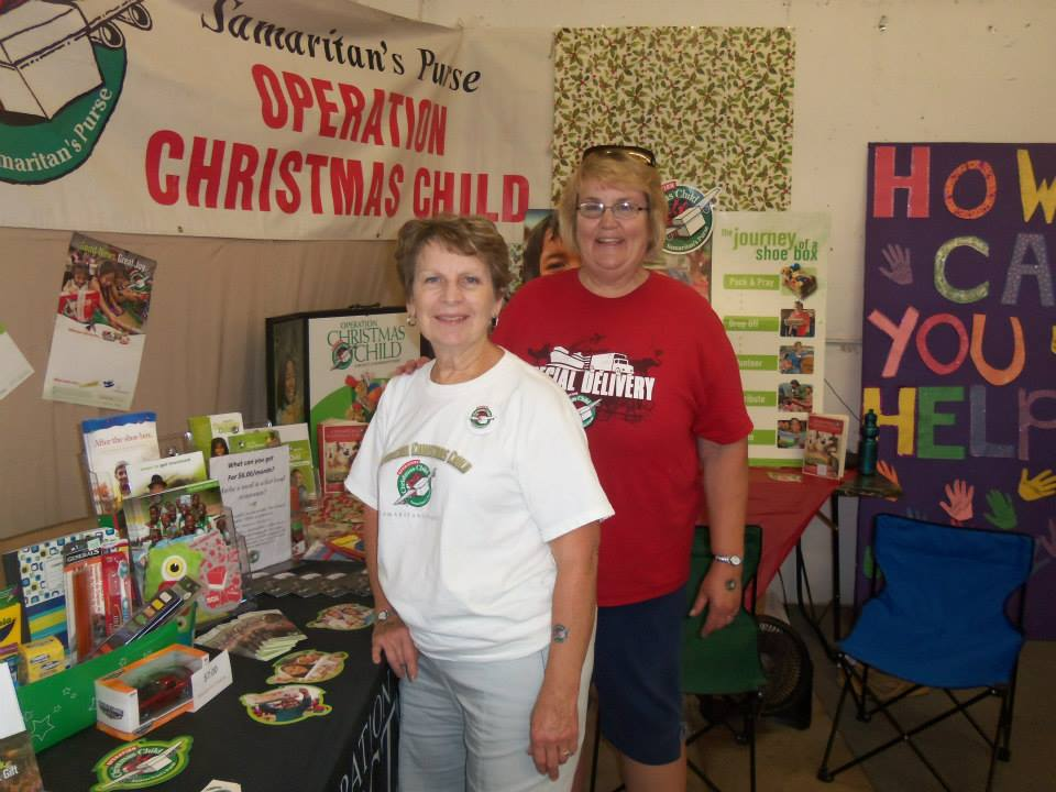 Operation Christmas Child Shoebox Display.Operation Christmas Child Volunteer Workshop Planned In
