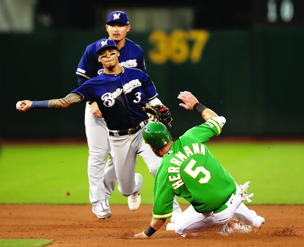 A's beat Brewers on walkoff | News, Sports, Jobs - Daily Press