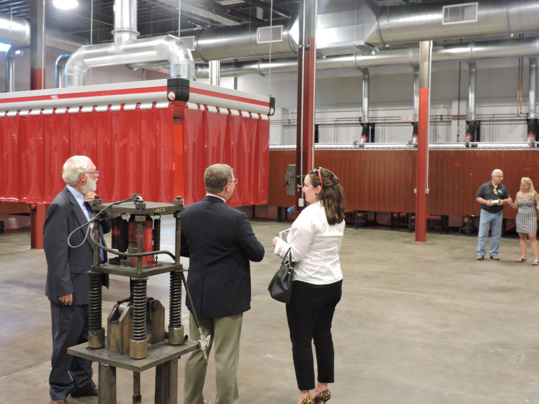 TOUR NEW CENTER — West Virginia Northern Community College officials guided  visitors recently on a tour of the school's new Industrial Technology  Center in ...