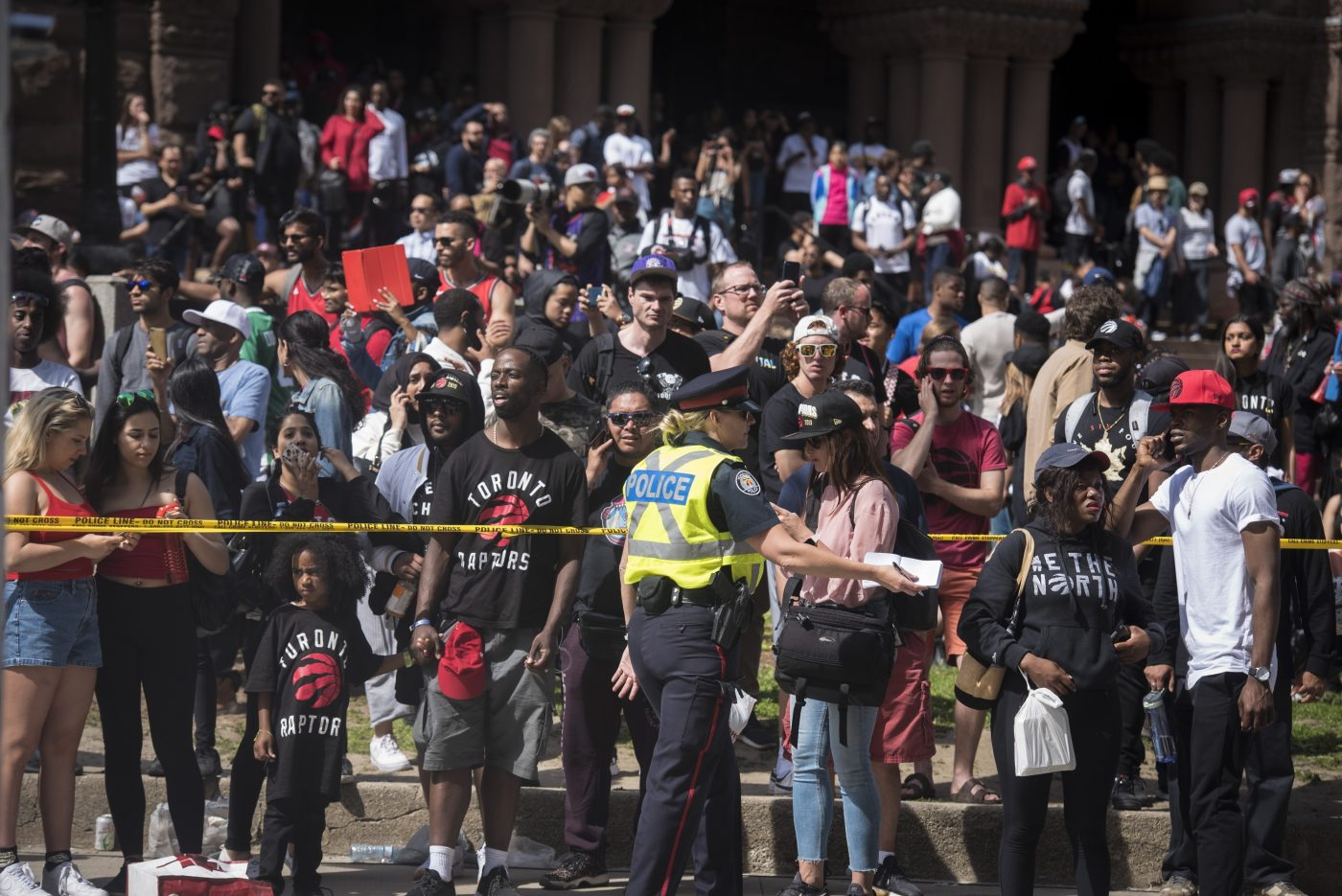 Police: Four shot, three arrested during Raptors rally in
