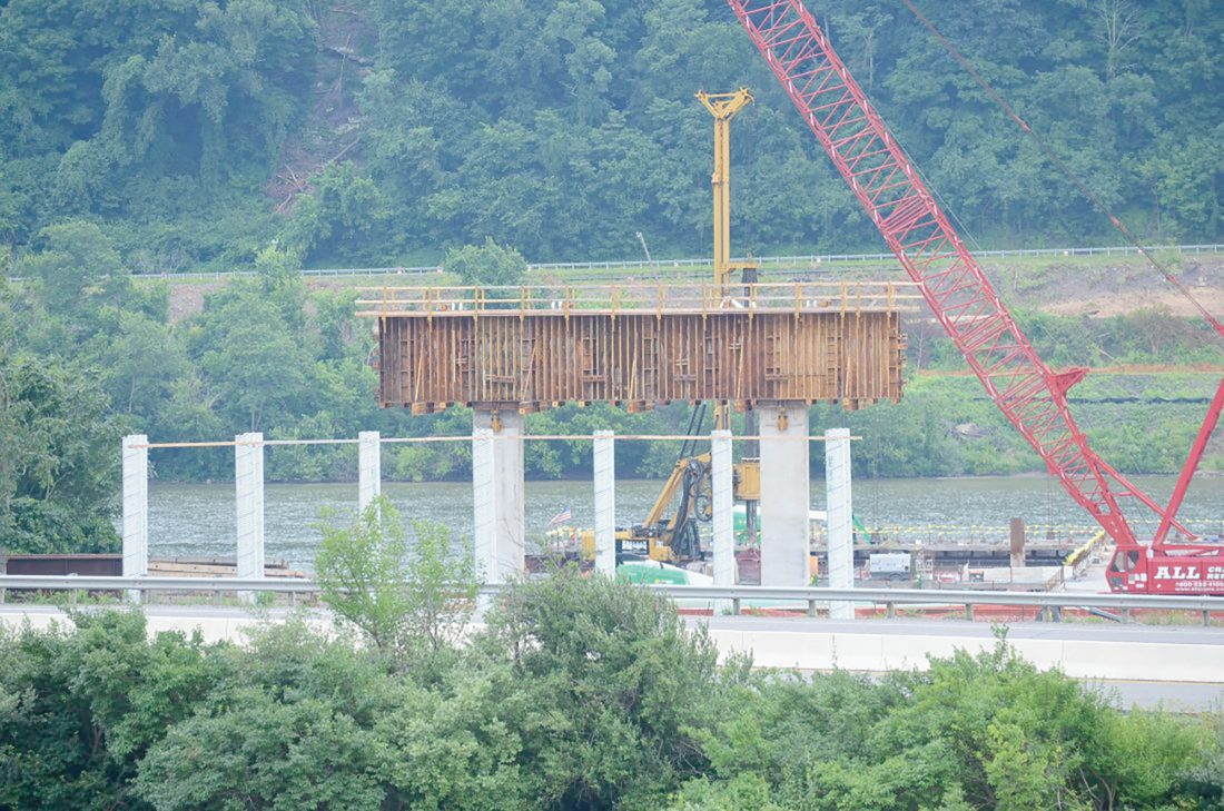 Work continues on bridge construction | News, Sports, Jobs