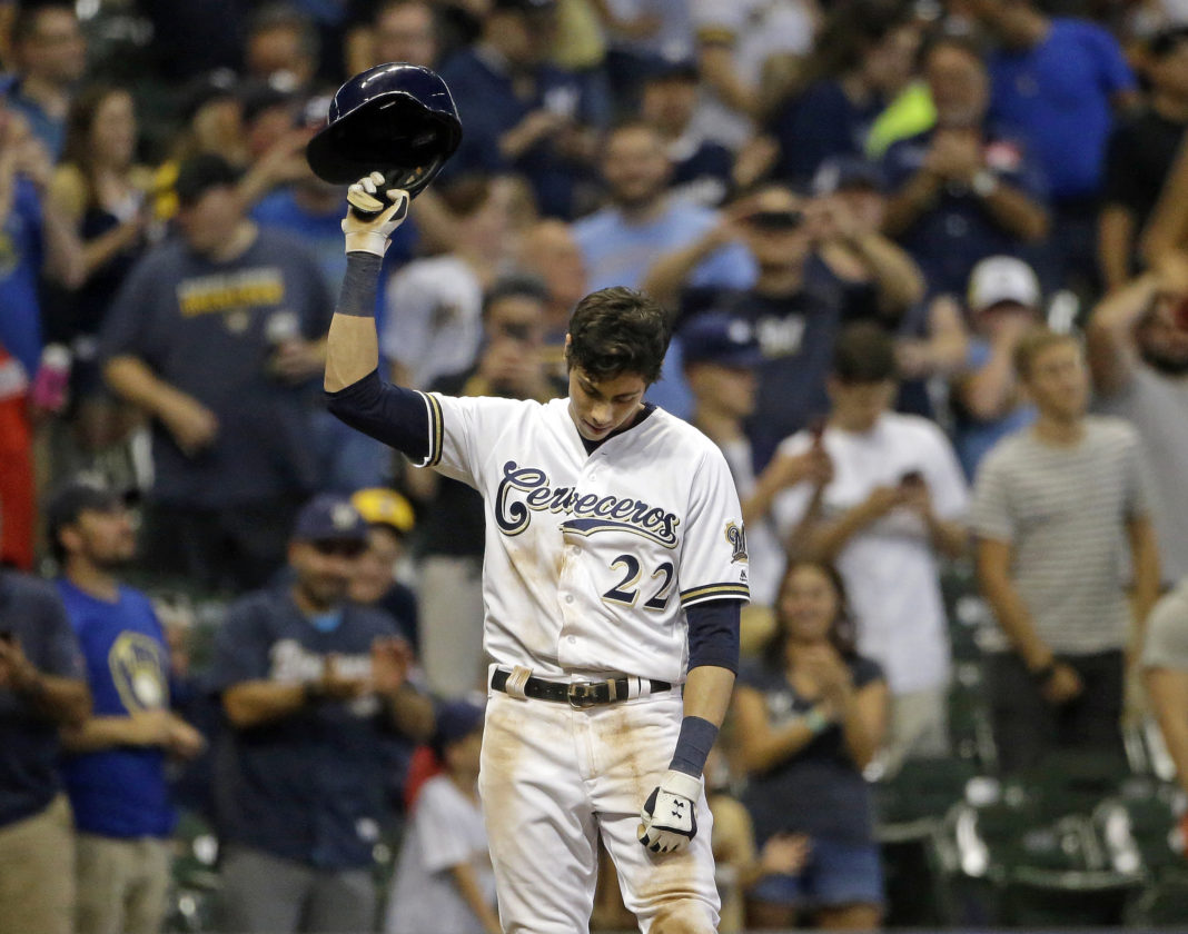 finest selection f8e4b 2714b Machine Gun Yeli: Brewers' Yelich hits for 2nd cycle of ...