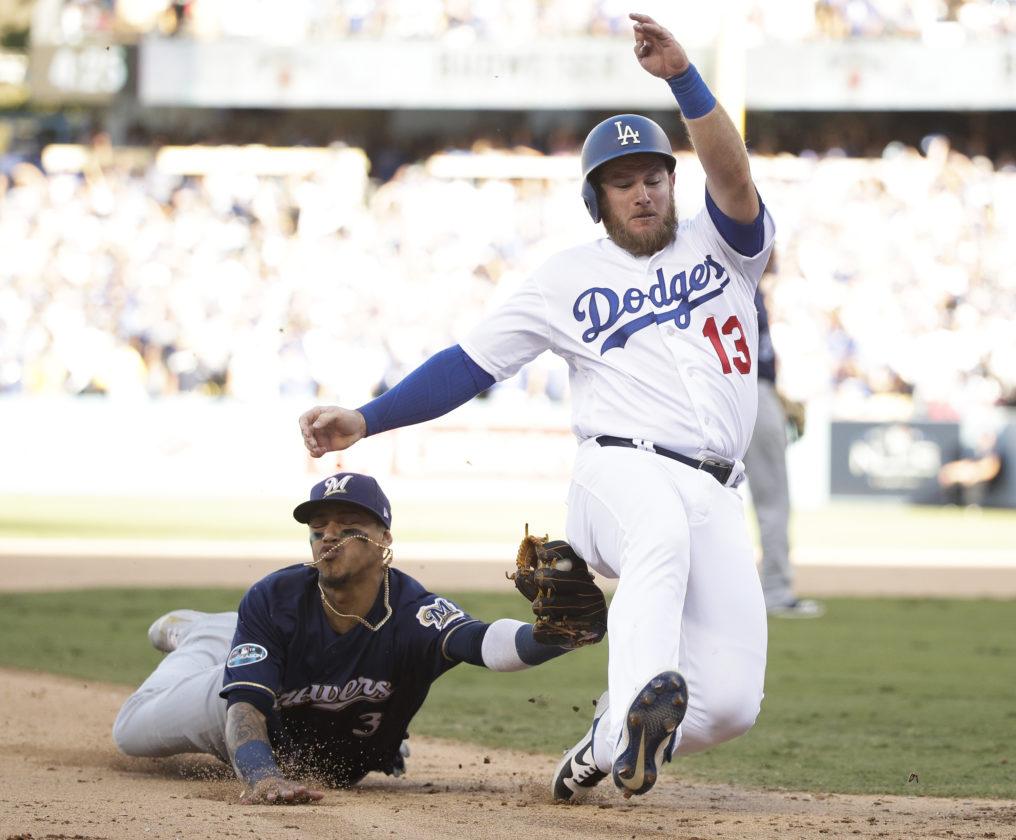 7d8b63c68 Kershaw dominant, Dodgers beat Brewers 5-2, lead NLCS | News, Sports ...