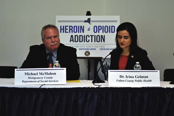 finest selection e0d9b e1e7a ... Social Services Michael McMahon and Fulton County Public Health  Director Irina Gelman testify during the New York State Task Force on  Heroin and Opioid ...