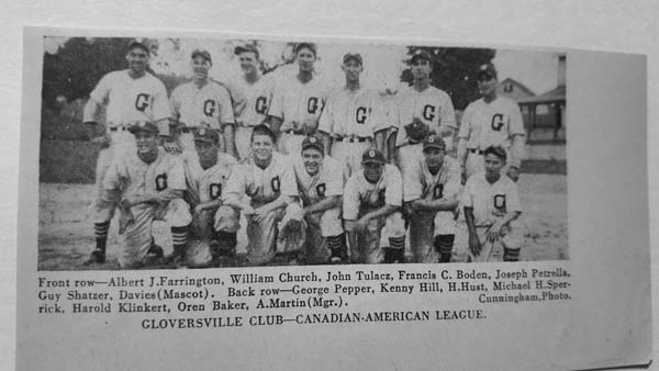 The 1937 Gloversville Glovers defeated the Pittsburgh Pirates in an exhibition game at Berkshire Park in Gloversville. (Photo contributed by Fulton County Baseball & Sports Hall of Fame)