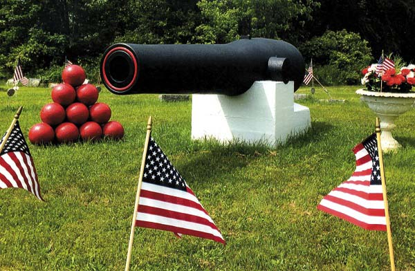 The 183rd XI-inch Dahlgren shell gun manufactured for the United States Navy sits in the Fairview Cemetery in Amsterdam. (Photo submitted)