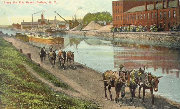 The Erie Canal in Buffalo is shown in this photo of a post card.  (Photo submitted)