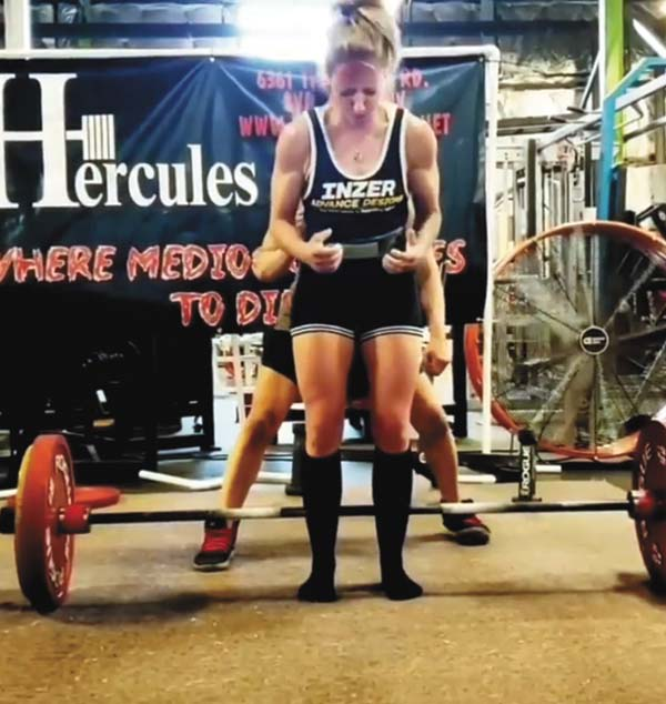 Jen Hazzard making a name in the world of powerlifting