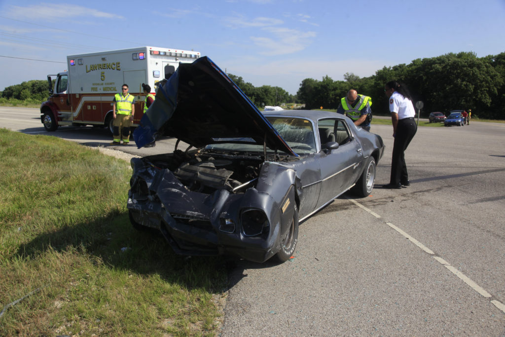 One person flown to hospital after two-vehicle accident on K-10