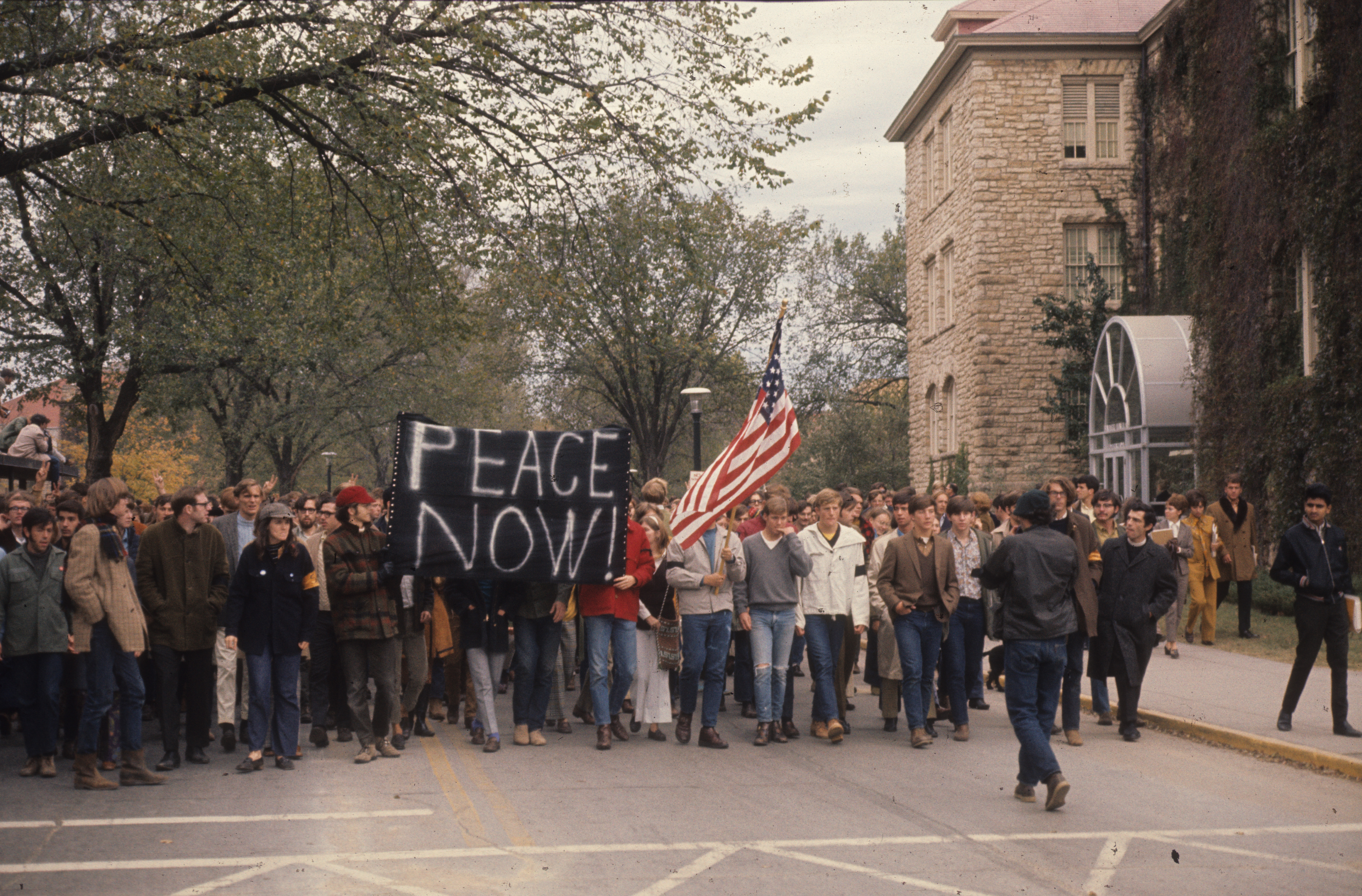 Protest News: Thousands Marched 40 Years Ago At KU To Protest Vietnam