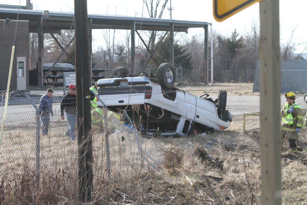 Man in rollover accident on K-32 airlifted to Kansas City-area