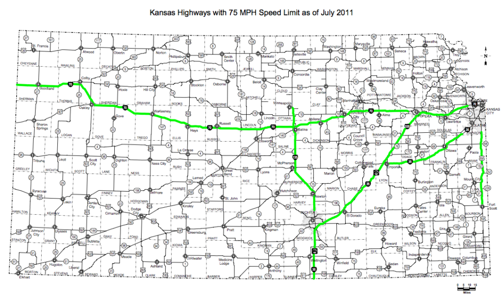 Speed limit on several highways — including Kansas Turnpike ...