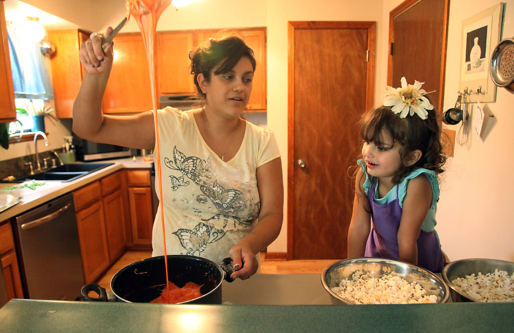 Kids in the kitchen: Parents find teaching opportunities in