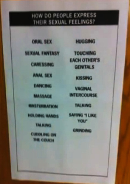 kansas middle school sex education poster in Peterborough