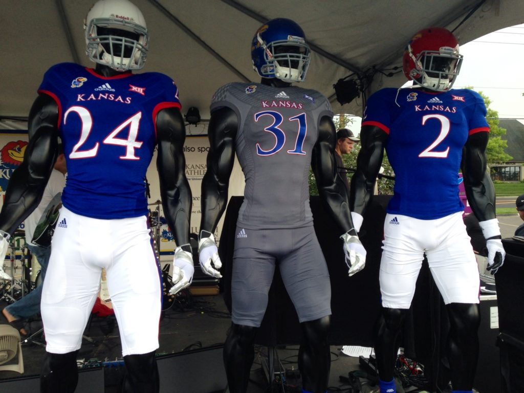 half off 47030 75b4b KU football fans asked to vote on opening-game uniforms ...