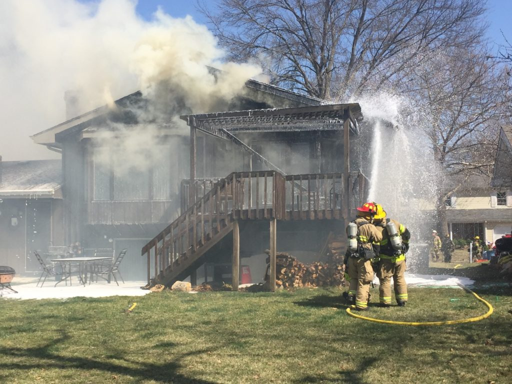 Firefighters Extinguish House Fire North Of Lawrence