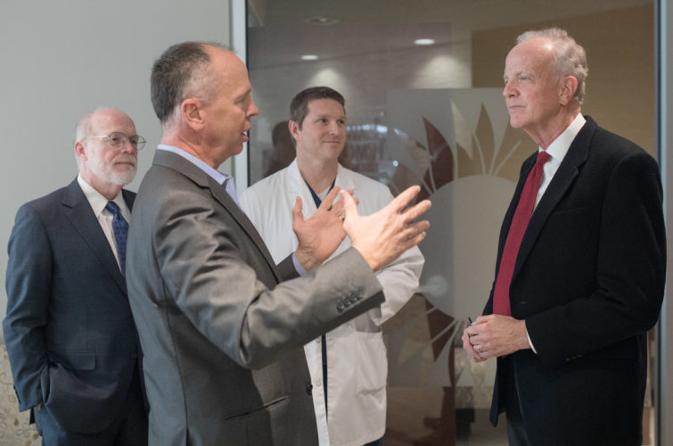 894b0555a679b While in Lawrence, Moran says Medicaid expansion could help Kansas  hospitals; denounces 'tariff battle'
