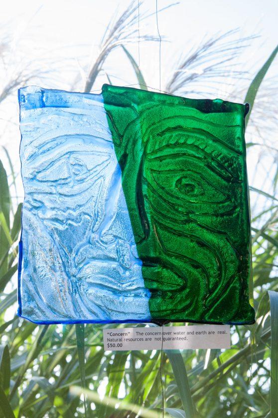 Glass art by Kathi Fair