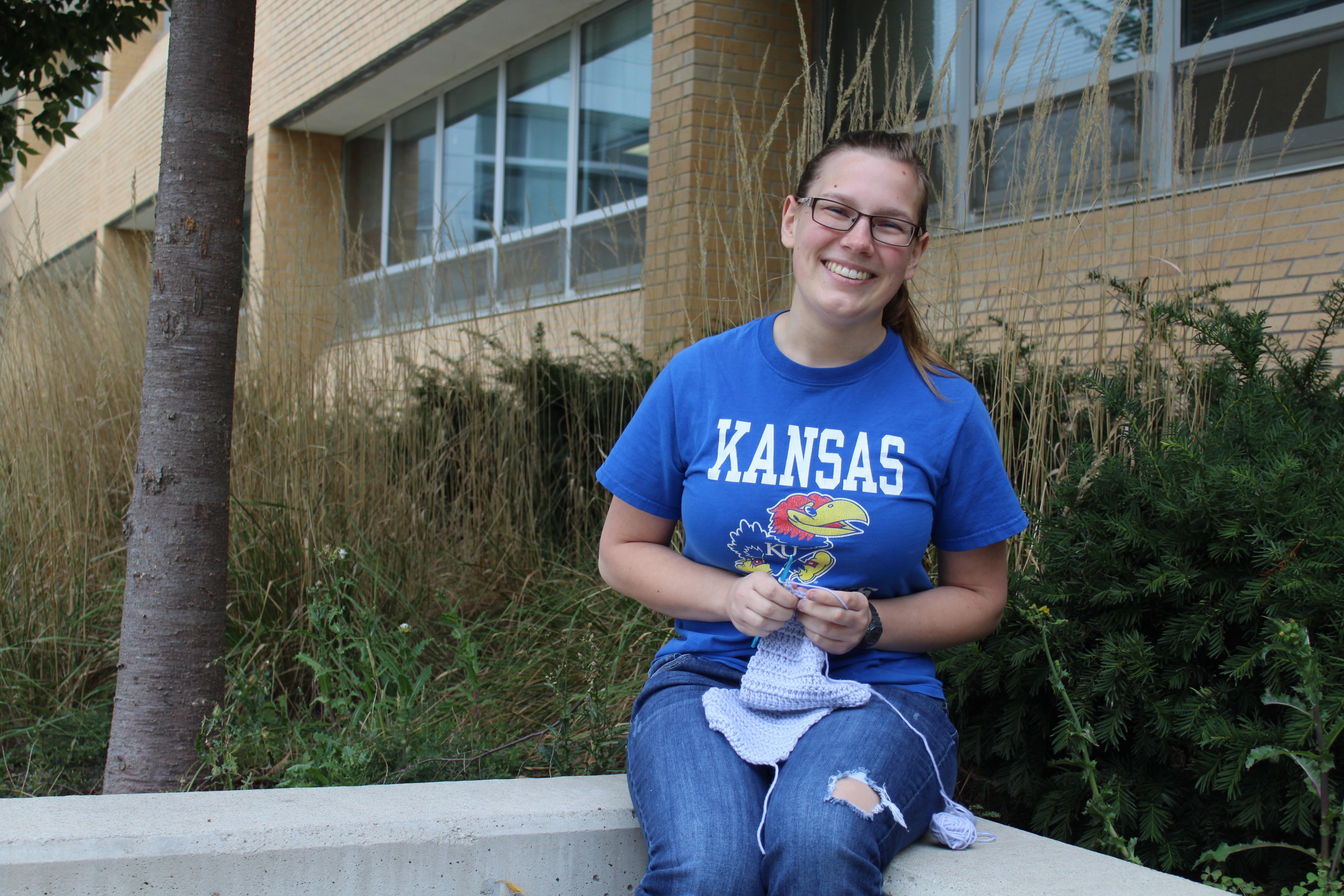 'Crochet Lady' more than her meme-moniker; she's a KU senior who hopes to become a nun