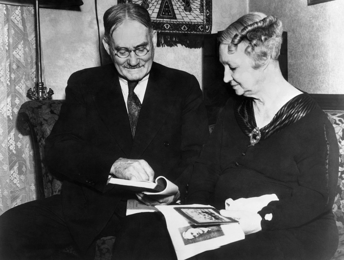 Dr. James Naismith and his wife Maude are shown in Lawrence on Feb. 11, 1936, discussing the early years of basketball as they discuss, also, their proposed trip to the Olympic Games in Berlin. (AP Photo)