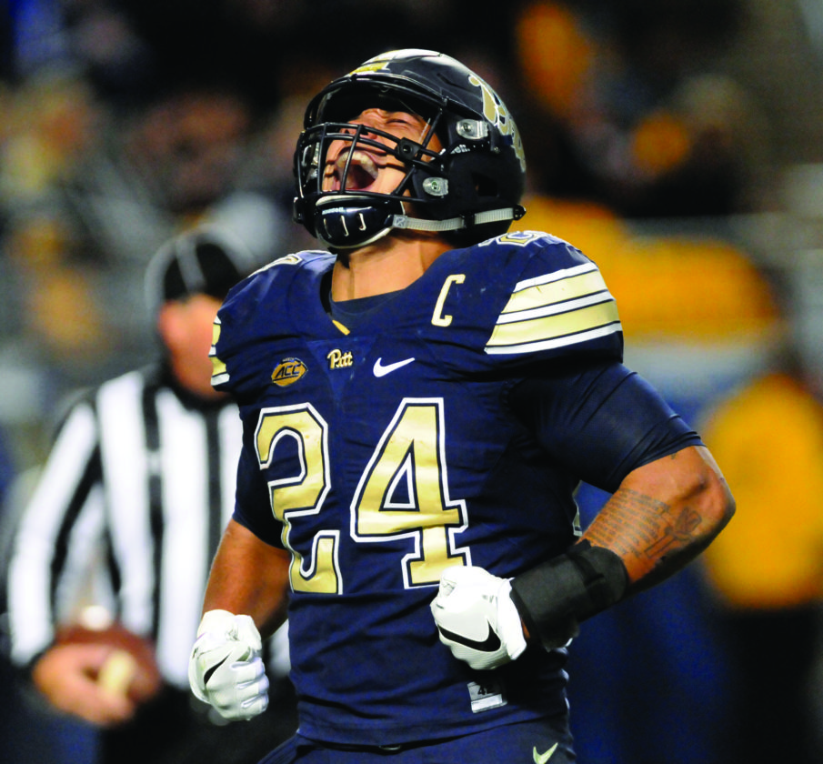 cheap for discount a5a61 24d11 PATIENT TO PITT TO PRO: Pittsburgh's RB James Conner keeping ...