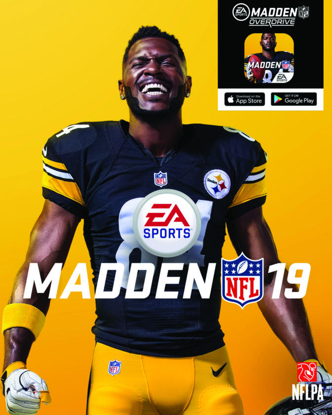 1ccfdf6379d The official cover of the Madden 19 video game featuring Pittsburgh  Steelers pro bowl WR Antonio Brown. (Associated Press Photo)