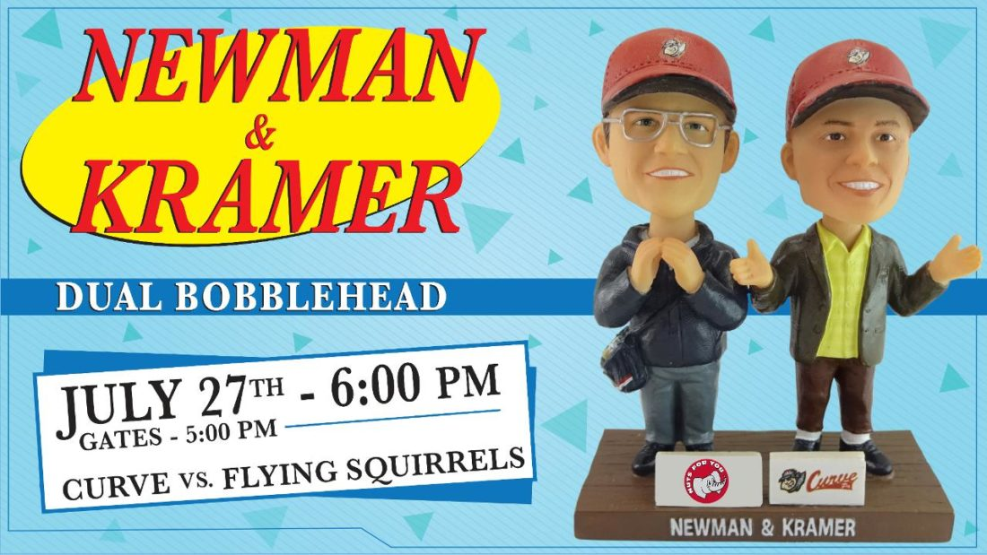 Flying Squirrels Schedule 2019 Altoona Curve to debut Newman and Kramer Bobblehead in July 2019