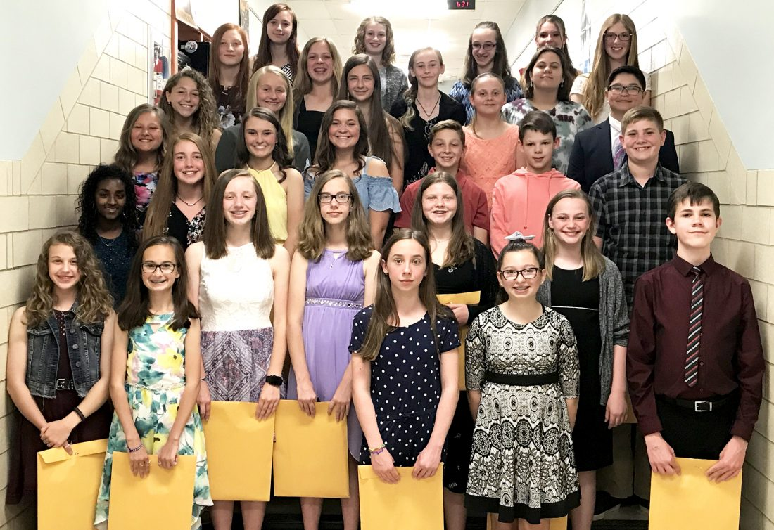 JS Middle School students inducted into honor society | News