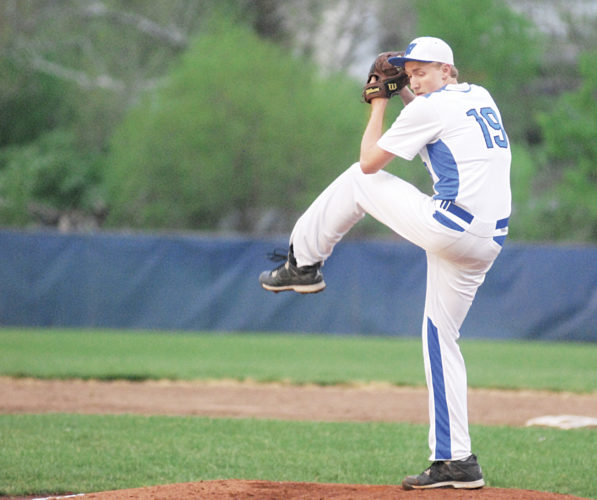 File Photo  Warren's Chase Weihl winds up in preparation to deliver a pitch to an awaiting Parkersburg South batter during a 2017 regular season contest. Weihl chose to pitch for Potomac State for the next two years Monday.