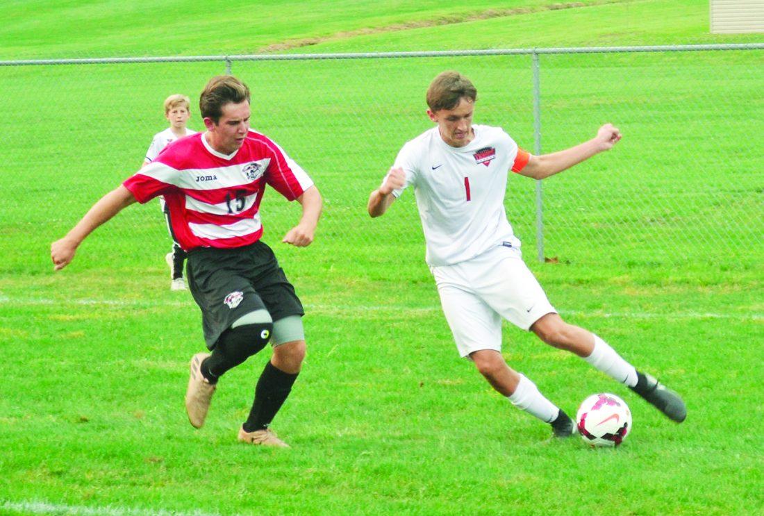 Unselfish: Jake Craven holds Marietta High boys soccer