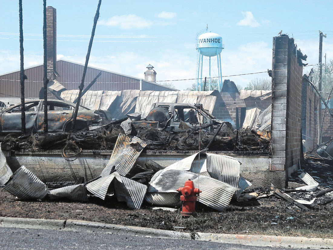 Fire destroys auto business in Ivanhoe | News, Sports, Jobs