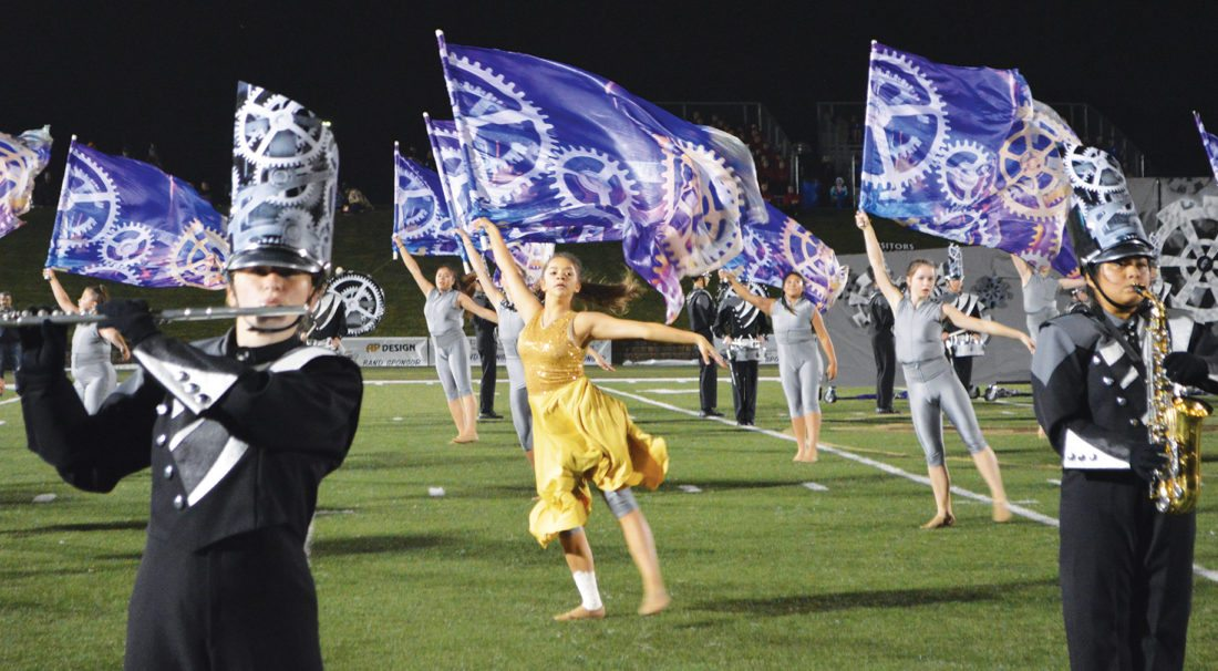 118f25d9 Above: The 2017 Pursuit of Excellence Festival culminated with an  exhibition performance by the Marshall High School marching band.