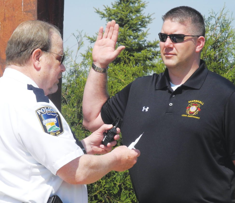 Changing of the Marshall fire chiefs | News, Sports, Jobs